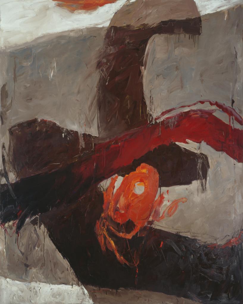 Walter Urbach<br />Ätna Mohn<br />Öl auf Leinwand<br />200x 160cm