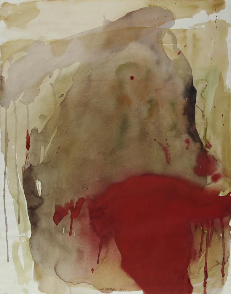 Walter Urbach<br />Mohn<br />Aquarell auf Papier