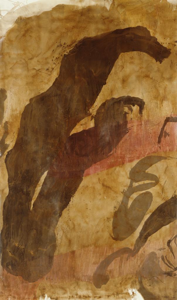 Walter Urbach, Papaver<br />Rollbild<br />Lacklasur, Ölpastell auf Leinwand<br />330 x 200cm<br />(Kunstmuseum Bonn)