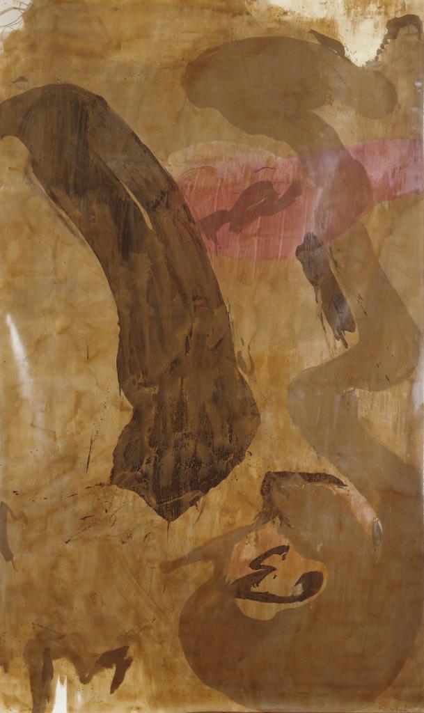 Walter Urbach<br />Papaver<br />Rollbild<br />Lacklasur, Ölpastell auf Leinwand 330 x 200cm<br />(Kunstmuseum Bonn)