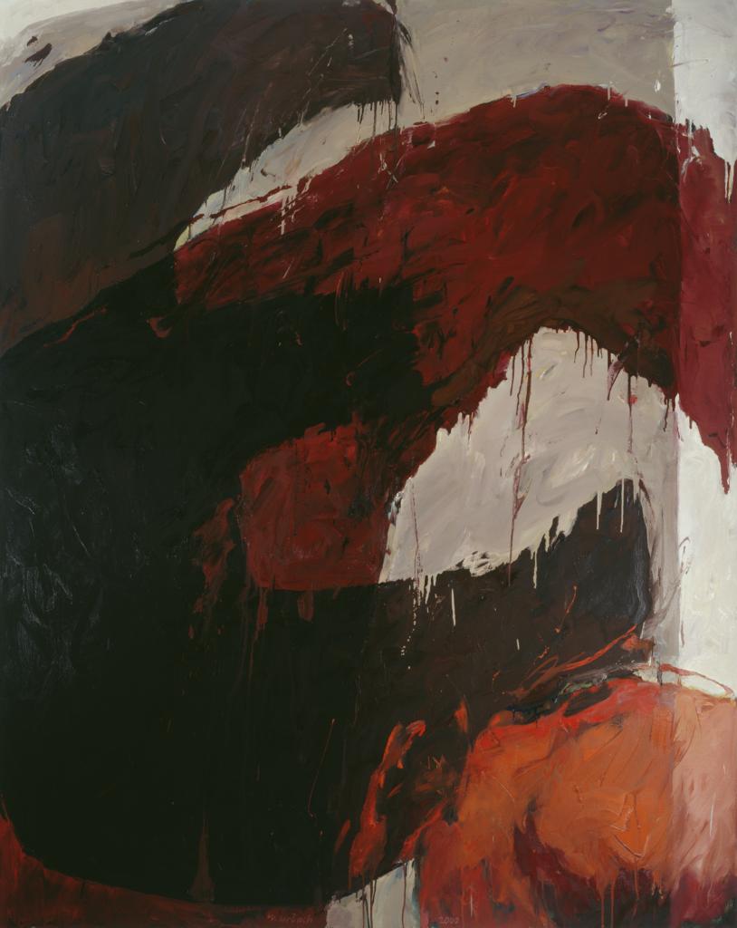 Walter Urbach<br />Ätna Mohn<br />Öl auf Leinwand<br />200 x 160cm