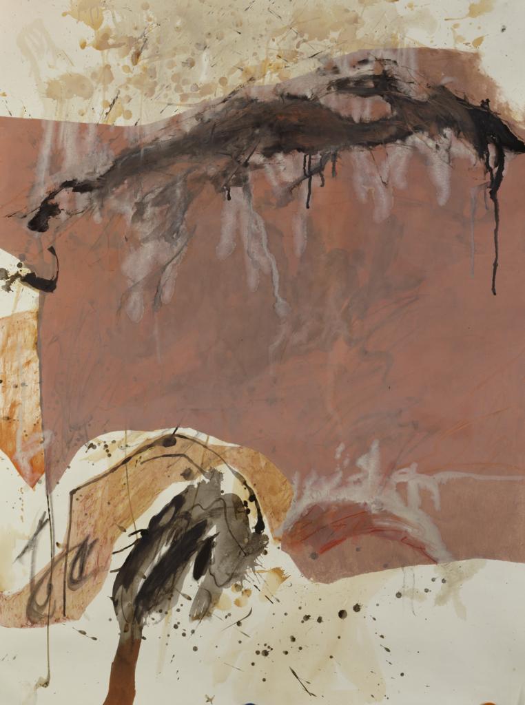 Walter Urbach<br />Ätna Mohn<br />Pastell, Tusche auf Papier<br />150 x 135cm