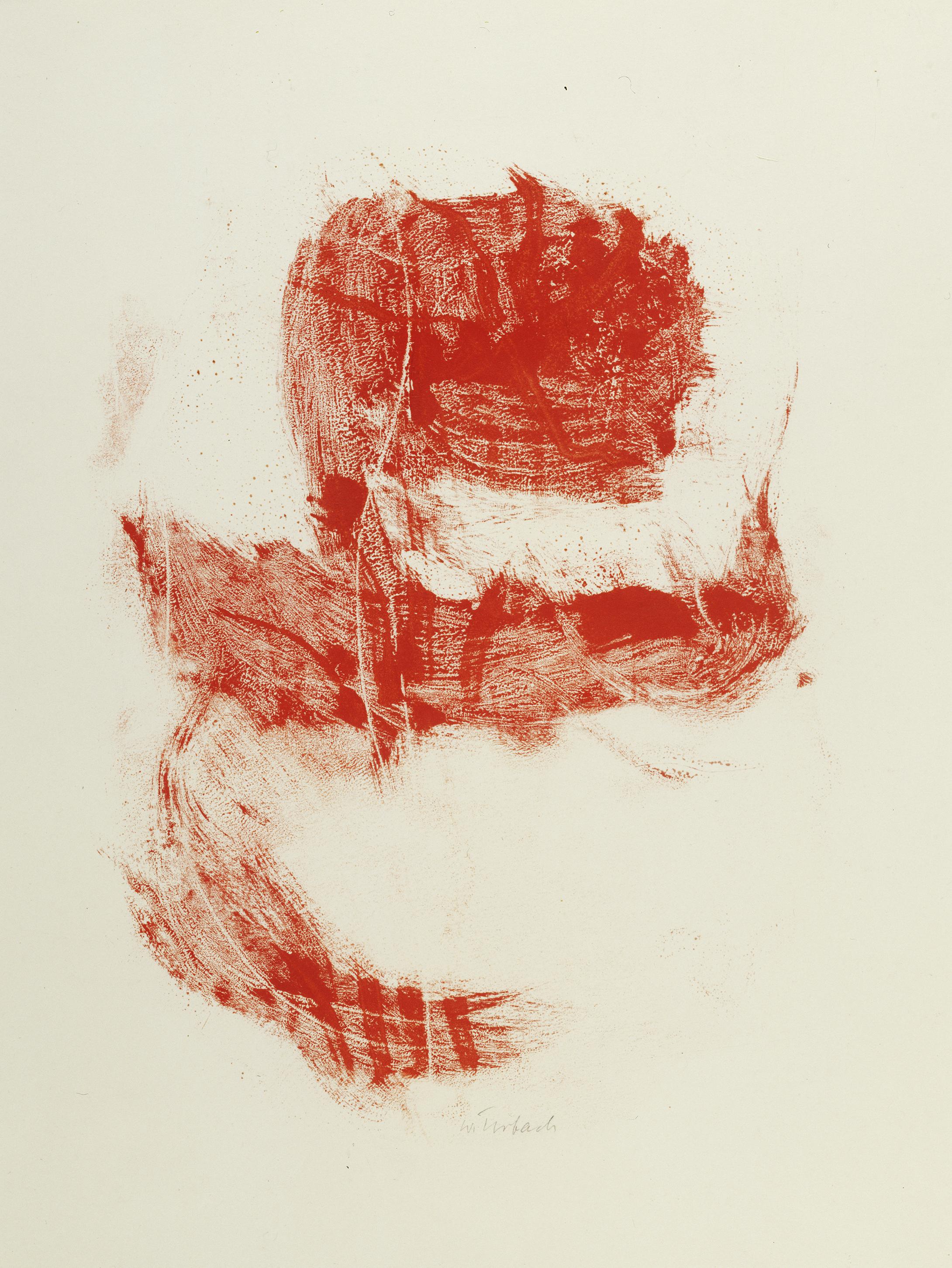 Walter Urbach, Mohn, Monotypie auf Papier 74 x 55cm, Staatliche Graphische Sammlung München